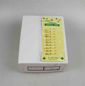 SAFETY PINS:24CRD/BOX (CRD/1-GILT)