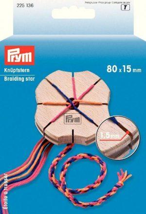 WOODEN BRAIDING STAR:5PC/BOX (225136)