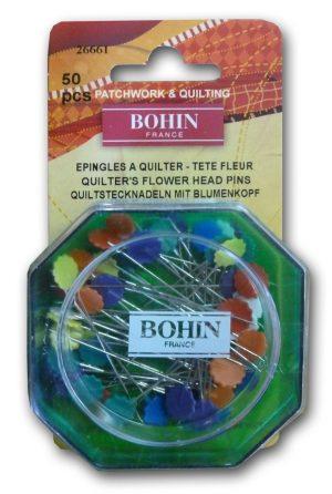 FLOWER HEADPIN;ASTD,50PCS (BOHIN/26661)