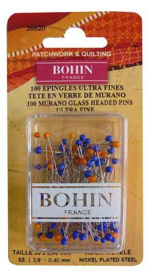GLASS PIN ULTRA FINE;100PCS (BOHIN/26620)