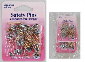 SAFETY PINS:5CRD/PKT (415.99)