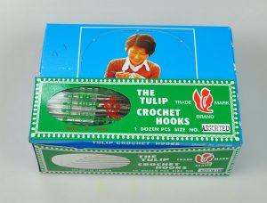 CROCH.HOOK:12CASE(1GRS)/BOX (T-1/ASSORT-TULIP)