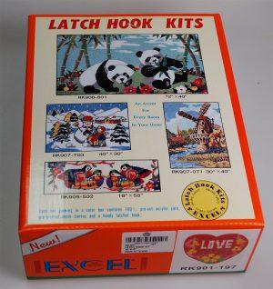 """LATCH HOOK KIT"""" EXCEL"""" (RK901)"""