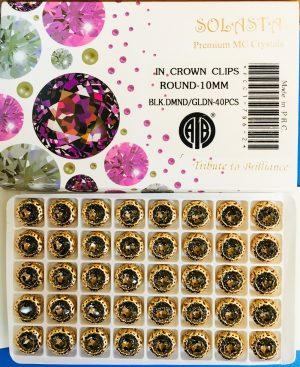 FANCY STONES:40PC/BOX (ROUND-10MM)