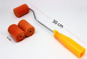 ROLLER METAL HANDLE SET:5CM (VELVET ROLLER/METAL)