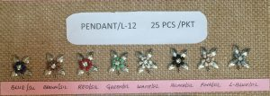 METAL PENDANT:25PC/PKT (PENDANT/L-12)