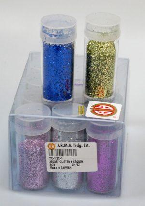 GLITTER POWDER:12PC/BOX (YC-12C)
