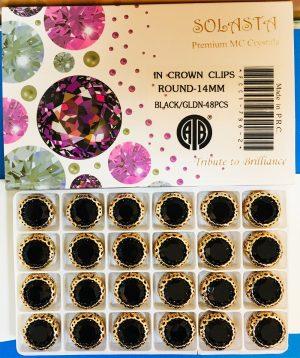 FANCY STONES:48PC/BOX (ROUND-14MM)