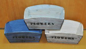WOOD FLOWER POT (A2-15B151)