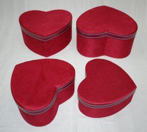 HEART SUEDE BOX:S/4 (CX08B052)