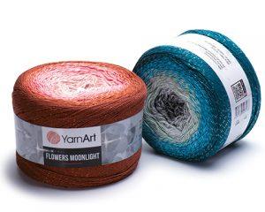 Y-ART/FLOWERS MOON (COT/PAC YARN:260Gx2B(520G)